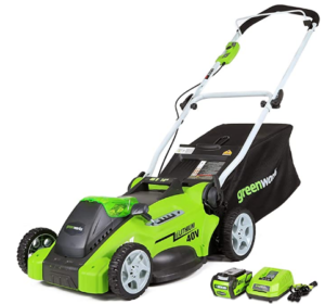 "1. Greenworks G-MAX 40V 16"" Cordless Lawn Mower"