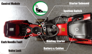How to tell if riding lawn mower engine is seized