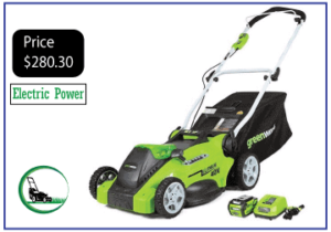 "Greenworks G-MAX 40V 16"" Cordless Lawn Mower"