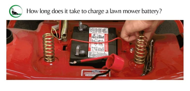 How long does it take to charge a lawn mower battery?